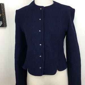 Larry Levine Jackets & Coats - Vintage Larry Levine Navy Blue Jacket
